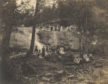 Young women at Davis Falls near Montevallo, Alabama.