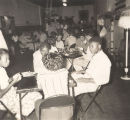 """Draftee program and card party"" at the African American USO club in Anniston, Alabama."