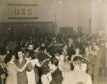 Couples dancing at the South American party held by the USO club in Talladega, Alabama.