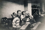 Two servicemen at the USO club in Montgomery, Alabama.