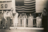 Orchestra at a dance held at the USO club in Montgomery, Alabama.