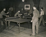 Servicemen playing table tennis at a USO club in Alabama.