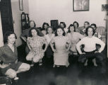 """Miss Evah Miller, assistant director USO Unit (YWCA) Mobile, Alabama, conducts Physical..."