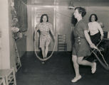 """Physical Fitness defense training class for working women and girls is conducted in Mobile..."