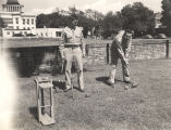 Servicemen playing croquet at the USO club in Mobile, Alabama.