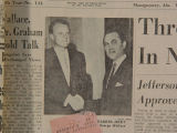 George Wallace and Billy Graham, from an article in the Montgomery Advertiser.