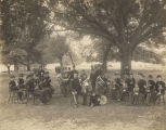 Members of the Alabama Boys Industrial School band at an encampment in Roebuck Springs, Alabama.