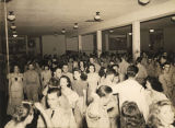 Intermission at a formal dance at the USO Soldiers Center in Montgomery, Alabama.