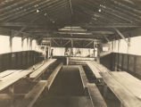 Interior of the mess hall at the Air Corps base at Roberts Field in Birmingham, Alabama.