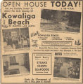 Advertisement for the opening of Kowaliga Beach on Lake Martin in Tallapoosa County, Alabama.