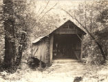 Covered bridge in the Talladega National Forest.