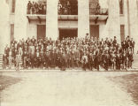 Members of the Alabama Reconstruction Legislature on the steps of the Capitol in Montgomery,...