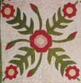 Wild Rose pattern quilt made by Martha Bledsoe Cottingham.