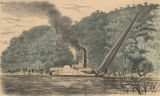 "Loading cotton onto the steamboat ""Magnolia"" on the Alabama River."