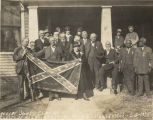 Members of the Egbert J. Jones Camp of the United Confederate Veterans in Huntsville, Alabama.