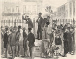 Slave auction in Montgomery, Alabama.