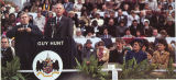 Governor Guy Hunt at his inauguration in front of the Capitol in Montgomery, Alabama.