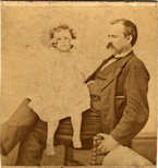 Daniel Houston Cram and his oldest daughter, Lila.