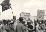 George Wallace supporters in Baton Rouge, Louisiana, during his 1972 presidential campaign.