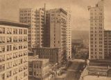 """Some Birmingham Skyscrapers, View Looking South on Twentieth Street from Third Avenue."""