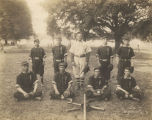 Members of the baseball team at the Alabama Boys Industrial School in Jefferson County, Alabama.