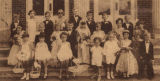 """Here are the members of a Tom Thumb wedding, which was held recently at the First Methodist..."