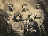 Brigadier General Sterling Alexander Martin Wood and staff, C.S.A.