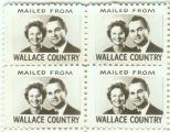 Stamps distributed during Lurleen Wallace's campaign for governor.