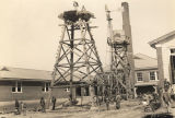Construction of a water tower at Reeltown High School in Tallapoosa County, Alabama.