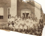 Students at the State Normal College in Troy, Alabama, possibly the graduating class of 1912.