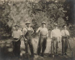 John Hollis Bankhead with his sons, William and John, and two unidentified young men.