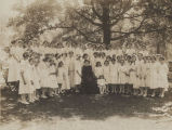 Virginia Clay-Clopton with students of the Margaret Allen School in Birmingham, Alabama, during...