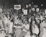 Crowd at a Patterson campaign rally during the 1958 gubernatorial race.