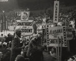 Alabama delegates at the Democratic National Convention of 1960, holding signs for George Smathers.