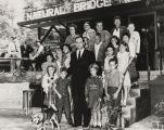 John Patterson with a group of children at the entrance to Natural Bridge in Winston County,...