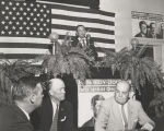 John Patterson making a speech in support of John Kennedy during the presidential campaign of 1960.