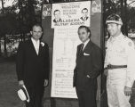 John Patterson and George Wallace visiting the Alabama Military Academy at Fort McClellan in...