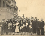 Alabama congressmen and their wives on the steps of the Capitol in Washington, D.C.