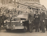 Presentation of new car to Sam Rayburn by Democratic members of the House of Representatives.