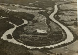 Aerial photograph of Horseshoe Bend on the Tallapoosa River.