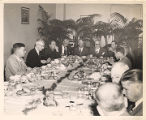 Frank W. Boykin at a luncheon with a group of men, probably colleagues and acquaintances from...
