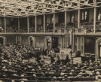 Members of the U.S. Congress voting to declare war on Germany and Italy.