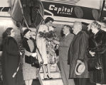 America's Junior Miss Judy Humphrey of Pennsylvania, arriving in Washington, D.C.