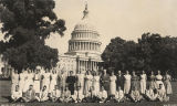 Choctaw County High School students with Frank and Ocllo Boykin in front of the Capitol in...