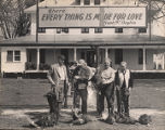 Frank W. Boykin and guests at his hunting lodge in McIntosh, Alabama.