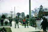 National Guardsmen on the corner of Dexter Avenue and Hull Street in front of the Capitol during...
