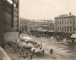 Funeral procession for Jefferson Davis through downtown Montgomery, Alabama.