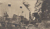 Thomas Galphin Holmes on horseback and Dr. M. Cophlan in a buggy in Tensaw, Alabama.