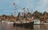 """The annual blessing of the shrimp fleet at Bayou La Batre, Alabama near Mobile is a colorful..."