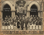 Alabama Boys Industrial School Band with John Philip Sousa and Eugene C. Jordan, the band's...
